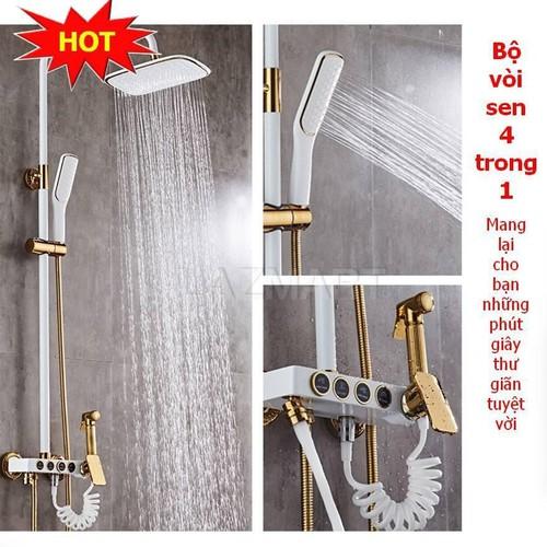 Bộ vòi sen tắm inox, bộ vòi nước nóng lạnh, vòi sen đứng tăng áp 4 trong 1 loại có tay cầm, chất liệu đồng đúc cao cấp, thiết kế sang trọng tôn nên vẻ đẹp ngôi nhà bạn - 13475930 , 21735169 , 15_21735169 , 1120000 , Bo-voi-sen-tam-inox-bo-voi-nuoc-nong-lanh-voi-sen-dung-tang-ap-4-trong-1-loai-co-tay-cam-chat-lieu-dong-duc-cao-cap-thiet-ke-sang-trong-ton-nen-ve-dep-ngoi-nha-ban-15_21735169 , sendo.vn , Bộ vòi sen tắm