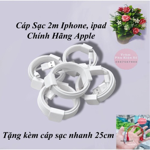 Cáp sạc dài 2 mét iphone chính hãng - 13475511 , 21734729 , 15_21734729 , 150000 , Cap-sac-dai-2-met-iphone-chinh-hang-15_21734729 , sendo.vn , Cáp sạc dài 2 mét iphone chính hãng