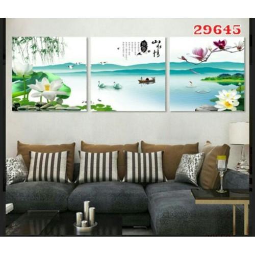 3 tranh dán tường 3d 40cm-40cm