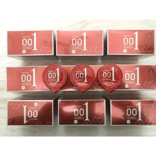 Bao cao su olo siêu mỏng 001 - hộp 10 cái
