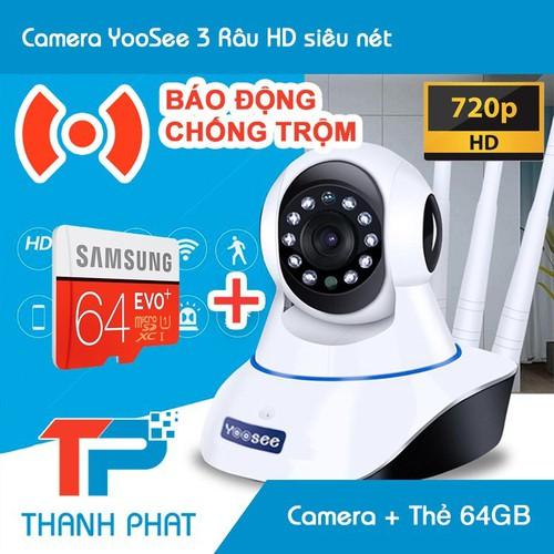 Combo camera ip wifi yoosee 3 anten + thẻ nhớ 64gb samsung - 13467801 , 21725989 , 15_21725989 , 650000 , Combo-camera-ip-wifi-yoosee-3-anten-the-nho-64gb-samsung-15_21725989 , sendo.vn , Combo camera ip wifi yoosee 3 anten + thẻ nhớ 64gb samsung