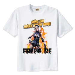 Siêu Hot Áo thun in hình Game Free Fire Laura Cotton Thái F2205