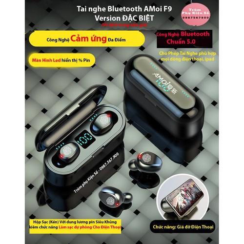 Tai nghe bluetooth 5 0 amoi f9 cảm ứng màn hình led phiên bản tiếng anh kiêm sạc dự phòng cho điện thoại - 17562333 , 22812255 , 15_22812255 , 400000 , Tai-nghe-bluetooth-5-0-amoi-f9-cam-ung-man-hinh-led-phien-ban-tieng-anh-kiem-sac-du-phong-cho-dien-thoai-15_22812255 , sendo.vn , Tai nghe bluetooth 5 0 amoi f9 cảm ứng màn hình led phiên bản tiếng anh kiê