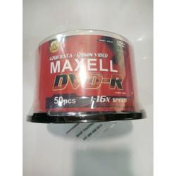 Đĩa trăng DVD-R MAXELL TAIWAN - 16X - 4.7GB - 120MIN _ Lốc 50 Cái