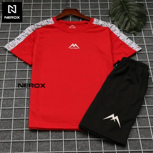 Bộ quần áo thun thể thao nam sport cầu vai hoa văn nbqattt1007 năng động – nerox