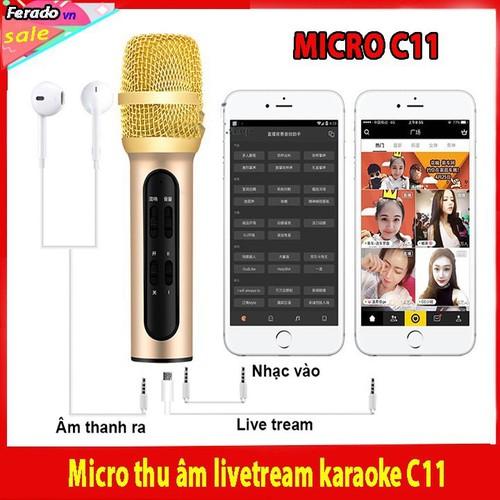 Micro c11 thu âm live stream loại cao cấp kèm tai phone - 13492150 , 21753432 , 15_21753432 , 215000 , Micro-c11-thu-am-live-stream-loai-cao-cap-kem-tai-phone-15_21753432 , sendo.vn , Micro c11 thu âm live stream loại cao cấp kèm tai phone