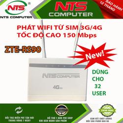 BỘ PHÁT WIFI Từ Sim 3G-4G RS900 LTE 300MB HỖ TRỢ CỔNG LAN-32 MÁY