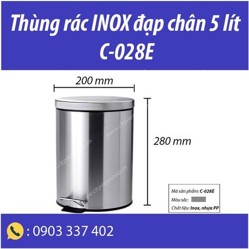 Thùng rác inox đạp chân 5 lít - 13481794 , 21741654 , 15_21741654 , 240000 , Thung-rac-inox-dap-chan-5-lit-15_21741654 , sendo.vn , Thùng rác inox đạp chân 5 lít