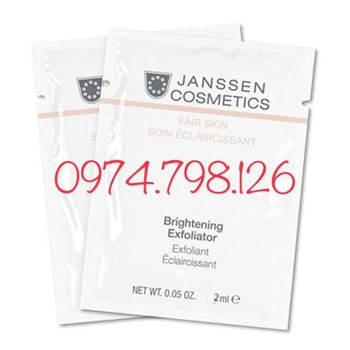 🌺1,5ml tẩy tế bào chết giúp trắng sáng da janssen cosmetics brightening exfoliator