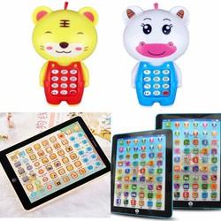 Combo máy tính bảng HỌC TIẾNG ANH và điện thoại cho bé