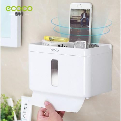 Hộp đựng giấy vệ sinh chữ nhật có khay để điện thoại