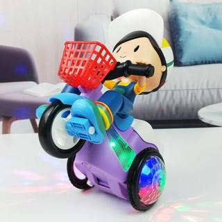 Quà cho bé- Em bé lái xe phát nhạc có đèn quay xe - Quà cho bé thumbnail