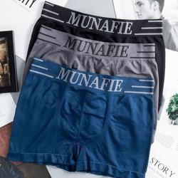 MIỄN SHIP ĐƯỢC XEM HÀNG CÓ TÚI ZIP Combo gồm 4 quần lót đùi boxer nam co giãn Munafie Nhật