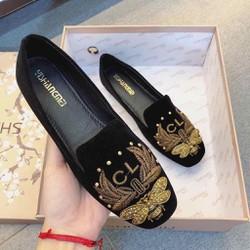 giày lười thêu cao cấp