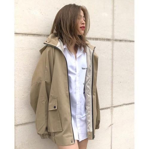 Áo khoác kaki nữ - áo khoác kaki nữ