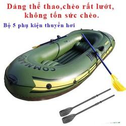 Xuồng Bơm Hơi Câu Cá Dã Ngoại Cho 4 Người- Thuyền Hơi Du Lịch- Xuồng Hơi CHống Ngập Lụt Mùa Mưa Bão