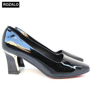 Giày cao gót bọc kim loại da bóng Rozalo R5775 - 5775 thumbnail