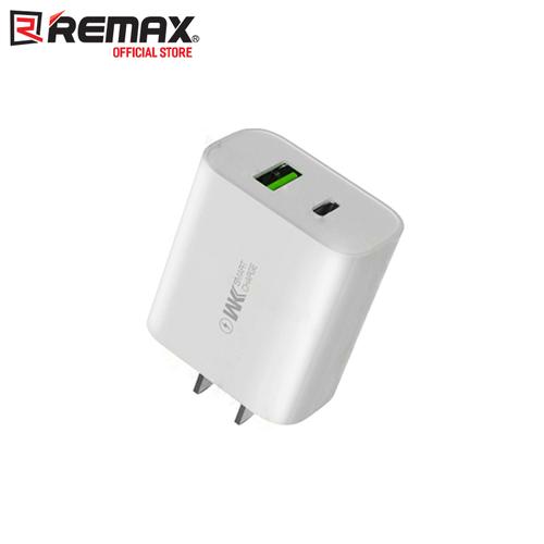 Cóc sạc nhanh cho iphone remax wp-u72 2 cổng usb qc3.0+pd max 18w
