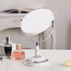 Gương Trang Điểm Để Bàn 2 Mặt Cỡ Lớn Xoay 360 Độ