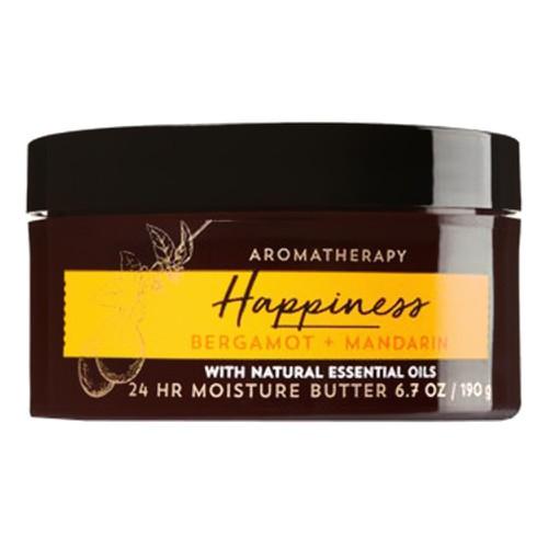 Bơ dưỡng thể thư giãn happiness bergamot & madarin - bath & body works 190g