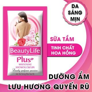 Sữa tắm dưỡng ẩm,trắng da,thơm lâu tinh chất hoa hồng Beauty Life 10 gói x 5g(Combo 10 dây) - F0007. thumbnail