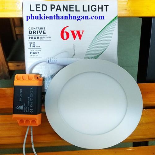 Đèn led âm trần panel tròn 6w - đèn âm 6w