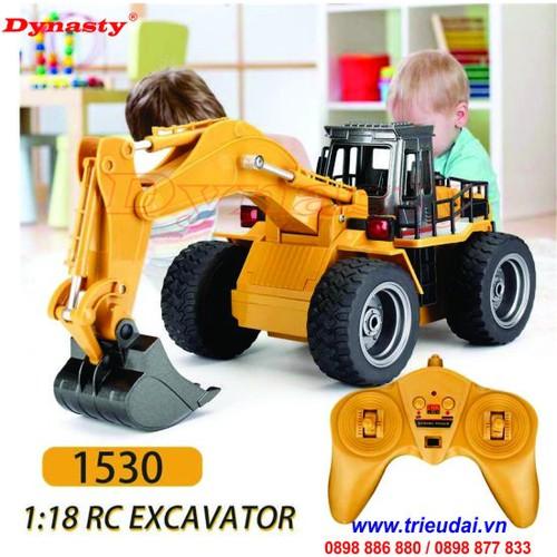 Xe đồ chơi xúc đất điều khiển huina 1530