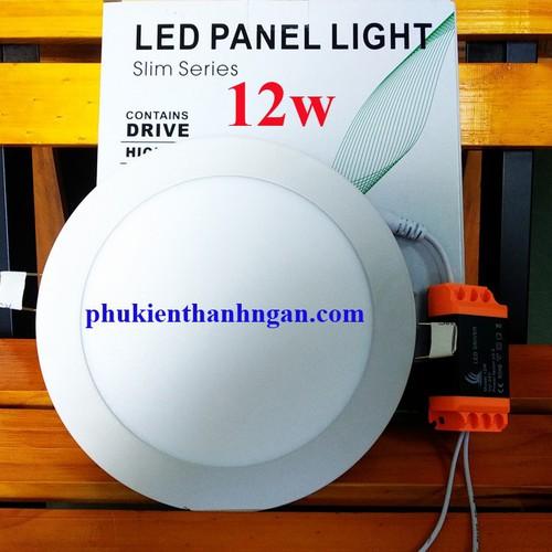 Đèn led âm trần panel tròn 12w - đèn âm 12w