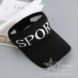 [Mua 2 Nón Tặng 1 Khẩu Trang Su Dày Kháng Khuẩn] Nón Sport Len Thể Thao Nữa Đầu - Yuna Boutique