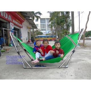 VÕNG XẾP KHUNG INOX CAO CẤP Gồm Khung Võng - 1807587514 thumbnail