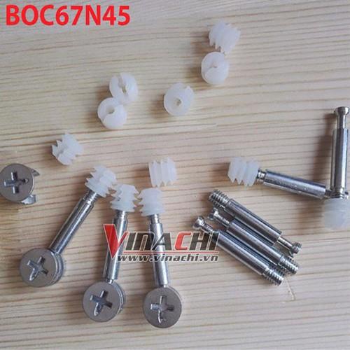 Bộ ốc liên kết cam ốc nở nhựa kiểu 1 -6.7x45mm  túi 100 cái