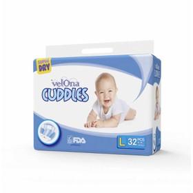 Tã dán Velona Cuddles k chứa chất tẩy gây vô sinh : S36-M34-L32 - Srilanka - tã dán Velona Cuddles