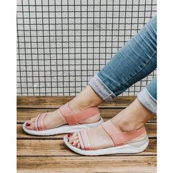 Sandal Crocs- Literide màu cam hồng cho nữ