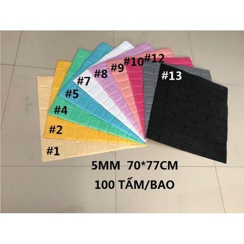 Combo 10 tấm xốp dán tường 3d hàn quốc nhiều màu