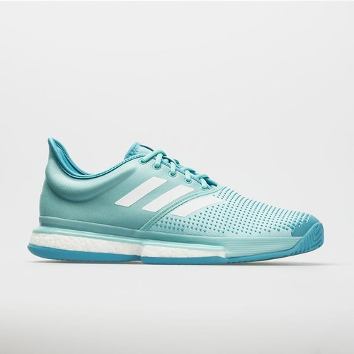 Giày tennis adidas sole court boost parley blue cg6339