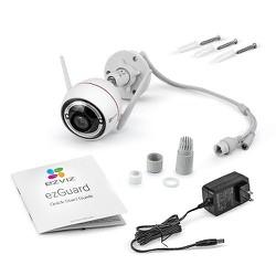 Camera IP wifi ngoài trời Full color có màu ban đêm,tích hợp đèn và còi cảnh báo EZVIZ CS-CV310-A0-3C2WFRL 2.0MP-1080p [ĐƯỢC KIỂM HÀNG]