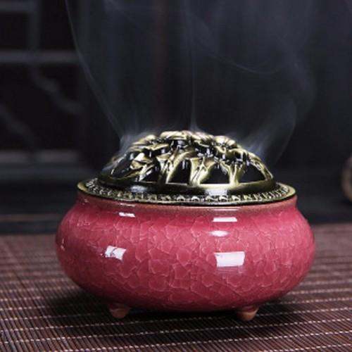 Lư xông gốm sứ đốt trầm hương nhang khoanh