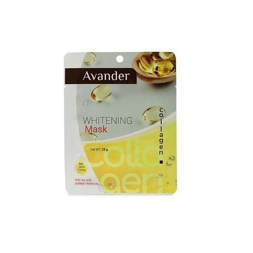 Mặt nạ giấy dưỡng trắng da tinh chất collagen avander 25g