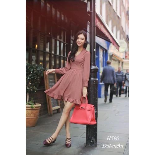 Đầm nữ dạo phố voan lụa