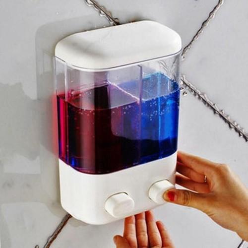 Hộp đựng xà phòng dầu gội sữa tắm 2 ngăn tiện dụng