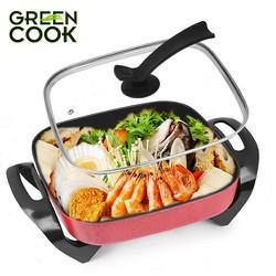 Lẩu nướng điện đa năng Green Cook chuẩn Hàn Quốc