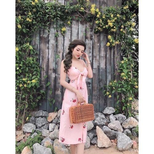 Đầm nữ in hoa dạo phố hai dây voan lụa - 20224012 , 21789501 , 15_21789501 , 110000 , Dam-nu-in-hoa-dao-pho-hai-day-voan-lua-15_21789501 , sendo.vn , Đầm nữ in hoa dạo phố hai dây voan lụa