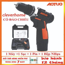 [ BẢO HÀNH 12 THÁNG ] Máy bắn vít không dây - Máy khoan pin đa năng cầm tay - Máy bắn vít Aotuo 12V - bộ máy khoan vặn vít