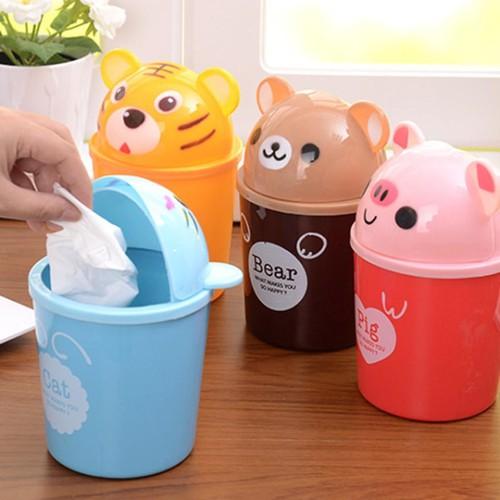 Thùng rác mini để bàn hình thú cute - 17069781 , 21809749 , 15_21809749 , 35000 , Thung-rac-mini-de-ban-hinh-thu-cute-15_21809749 , sendo.vn , Thùng rác mini để bàn hình thú cute
