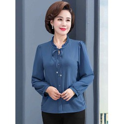 áo trung niên tay dài cao cấp (thời trang trung niên Lolita xinh) LL571-919
