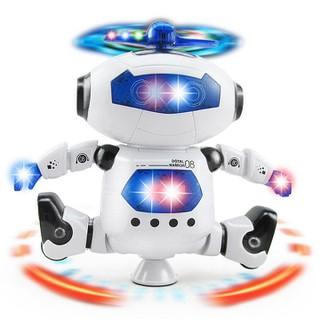 Đồ Chơi Robot Xoay 360 Độ - Đồ Chơi Robot Phát Nhạc - Đồ chơi robot xoay thumbnail