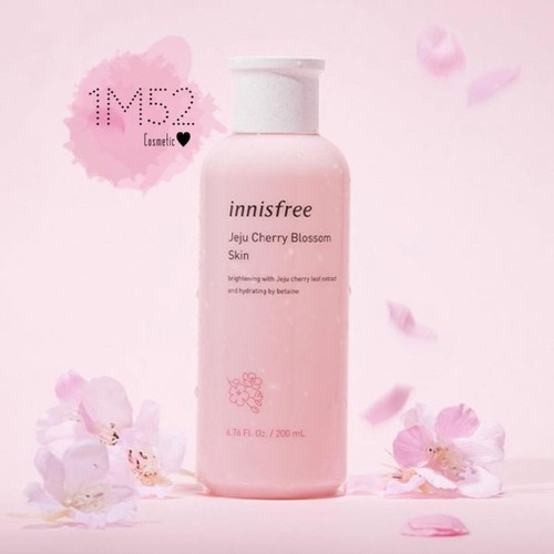 Nước hoa hồng - nước hoa hồng - nước hoa hồng dưỡng trắng, dưỡng ẩm innisfree jeju cherry blossom skin 200ml