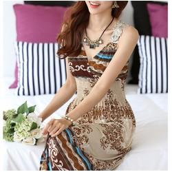 Đầm Maxi hè - Đầm Maxi đi biển - Đầm maxi họa tiết - Đầm maxi hè V05