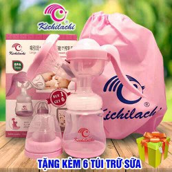 Máy Hút Sữa Bằng Tay Kichilachi Tặng 6 Túi Trữ Sữa