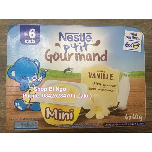 Váng sữa nestle pháp lốc 6 hộp cho bé từ 6th